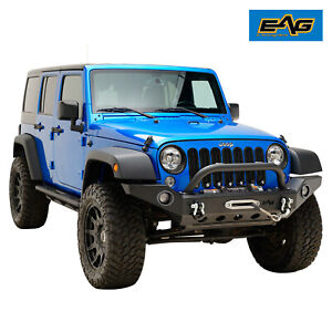 Eag Front Bumper With Led Lights Fit 2007 2018 Jeep Wrangler Jk