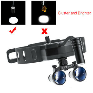 3 5x420mm Dental Loupes With 5w High Brightness Led Headlight Lamp Dy 005 Ent