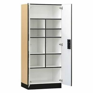 Salsbury Industries 3078map Storage Cabinet 32 wx76 hx18 d maple