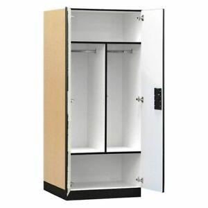 Salsbury Industries 3174map Storage Cabinet 32 wx76 hx24 d maple