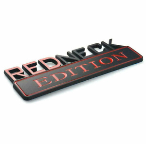 For Ford 7inch Redneck Edition Emblem Sticker Red Badge Decals F150 F250 F350