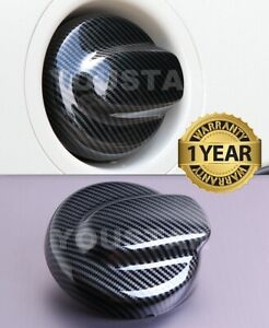 Us Stock X1 Carbon Effect Gas Cap Fuel Cover For Mini Clubman R55 R56 Cooper S