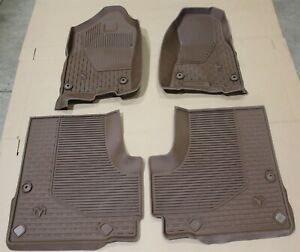 2019 Dodge Ram 1500 Crew Cab All Weather Floor Mat Kit Brown Oem Factory Mats