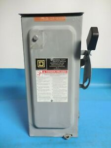 Square D D322nrb Safety Switch With 3 cooper Bussmann 250vac 35a One Time Fuse