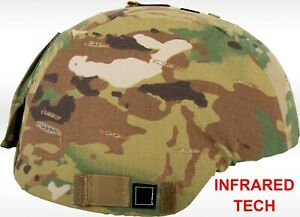 Tactical Military ACHMICH Helmet Cover Multicam Small Med - NEW - w IR Tab