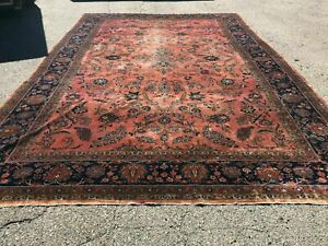 Antique Kashann Large Room Size Rug 11 X 18