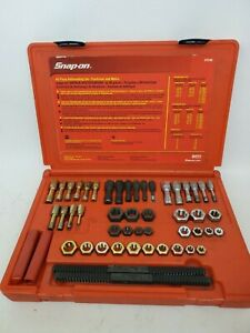 Snap On 48pc Re Threading Set Complete Rtd48 Set Excellent Condition