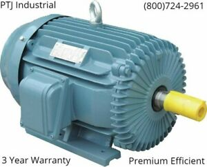 20 Hp 256t Electric Motor 3 Phase 1800 Cast Iron 3 Year Warranty