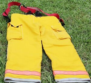Firefighter Turnout Bunker Pants Globe 38x34 Extreme With Suspender Costume