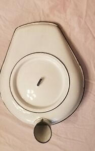 Vintage Bed Pan Urinal With Cover Collumbian Made