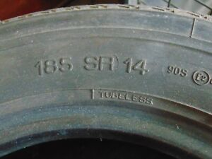 Michelin Xzx 185 Sr 14 Tires Set Of 4 Lightly Used Tires
