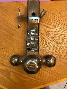 Used 3 Way Reese Towpower Tri Ball Fits 2 Reciever Hitch 7039800