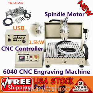 1 5kw 6040 Cnc Router Usb 5axis Engraver Engraving Woodworking Milling Machine