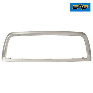Eag Fits 2010 2012 Dodge Ram 2500 3500 Front Grille Shell Chrome Abs Plastic