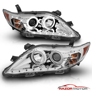 r8 Style ccfl Halo led Strip for 10 11 Toyota Camry Chrome Projector Headlights