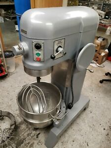 Hobart 60 Qt H600 Mixer Stainless Bowl Paddle Whip And Bowl Dolly See Video