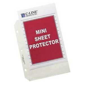 C line 62058 Sheet Protector 8 5x5 5 clear pk50