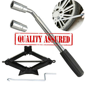 Car Steel Garage Tire Wheel Lug Wrench Scissor Jack Crank Speed Handle Lift Tool