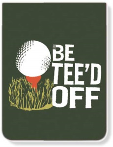 Just Be Pk 14343 tee Just Be Tee d Off Lined Pocket Pad notebook pack Of 7