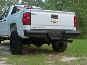 New Ranch Style Rear Bumper 11 19 Chevy Gmc 2500 3500 Smooth Plate Pipe