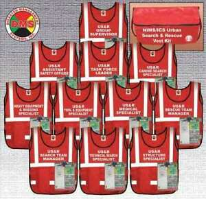 Dms Dms 05308 Urban Search And Rescue Vest Kit 11vests