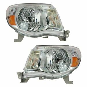 2005 2006 2007 2008 2009 2010 2011 For Ty Tacoma Headlights Pair Right Left
