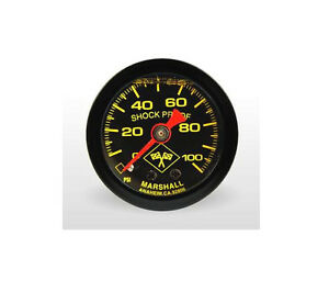 Marshall Gauge 0 100 Psi Fuel Oil Pressure Midnight Black 1 5 Liquid Filled