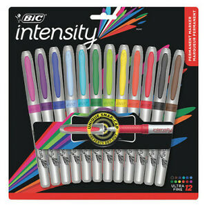 Bic Bicgpmup12asst Mark it tm Ultra fine Tip Permanent Marker Assorted Colors