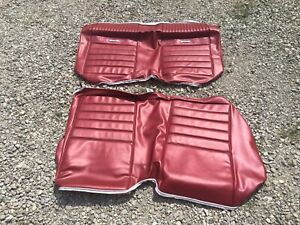 1966 Mustang Coupe Rear Seat Cover Pony Vinyl Upholstery Red