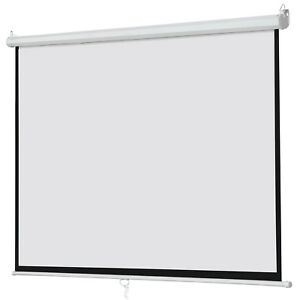 100 Big Projector Screen 16 9 Projection Hd Home Theater Portable Movie Screen
