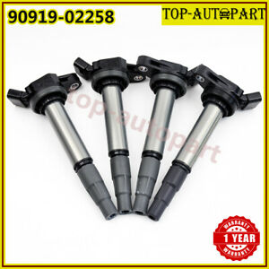 4pc Ignition Coil Denso Oem 90919 C2005 90919 02258 Universal For Toyota Corolla