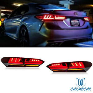 A Pair Led Taillight Assemblies Led Rear Lamps Fit For 2018 Toyota Camry