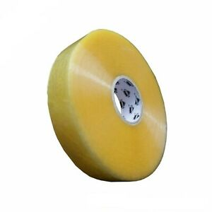 12 Rolls Hybrid Acrylic Machine Packing Tape 2 X 1000 Yards Yellow Transparent