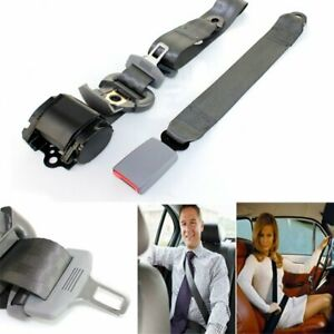 1x Fits Dodge 3 Point Fixed Harness Lap Strap Safety Belt Seat Belt Color Grey