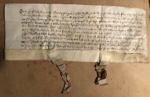 Wow Medieval English Parchment Document Sir Simon Digby Fought Bosworth 1491