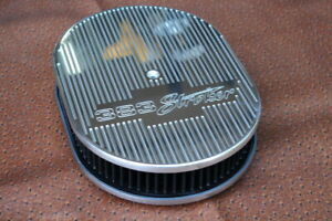 383 Stroker Ghost Bowtie Chevy Or Ford 12 Inch Oval Air Cleaner K