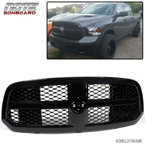 For 2013 2017 Dodge Ram 1500 Glossy Black Mesh Front Bumper Grill Grille Guard