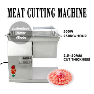 Stainless Commercial Meat Slicer Dicer Cutting Machine Kitchen Cutter 250kg hour