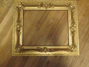 Antique Picture Wood Frame Gold Ornate