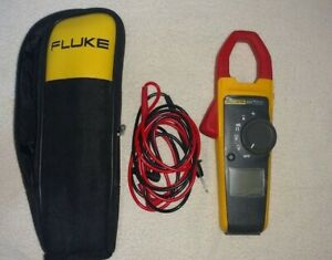 Fluke 373 Clamp Meter With Case And Probes