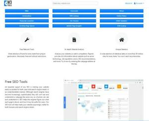 Awesome Seo Tools Website For Sale Https w3tools info
