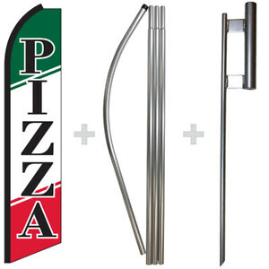 Pizza 15 Tall Swooper Flag Pole Kit Feather Super Banner