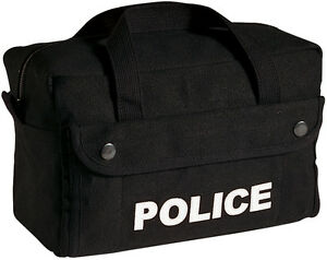 Black Police Tactical Gear Bag Equipment Tool Work Duty Carry Law Enforcement