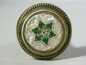 Vintage Glass Curtain Tie Back Or Draw Pull Star Pattern 1 Inch Diameter 2