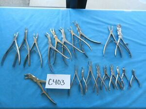Sklar Aesculap Surgical Orthopedic Spine Neuro Rongeurs Cutters Lot Of 20