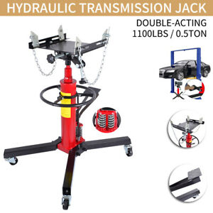 1100 Lb 0 5 Ton Transmission Jack Double Acting Hydraulic For Car Auto Lift
