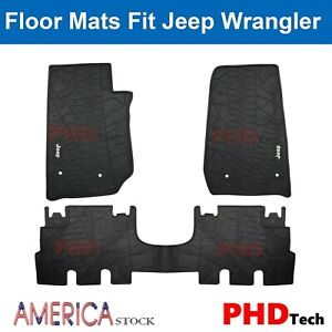 Prime All Weather Rubber Slush Floor Mats For Jeep Wrangler Jk 2014 2018