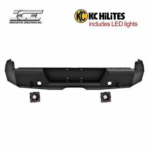 Rbm72tyn kc Magnum Off Road Rear Bumpers With Kc Hilites Led Reverse Lights Ici