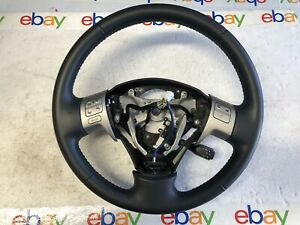 2009 2013 Toyota Corolla Leather Steering Wheel Black Oem