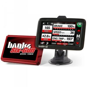 Banks Power 63899six Gun Diesel Tuner W Iq Dashboard Pc For 07 10 Gm Duramax